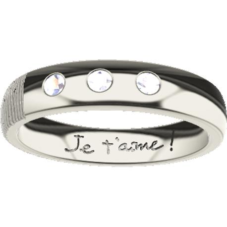 Personalized wedding band, 4.0 mm wide, , cast in 14k white gold, with 3 natural round diamonds of 2 mm,, 1 fingerprint and 1 ha